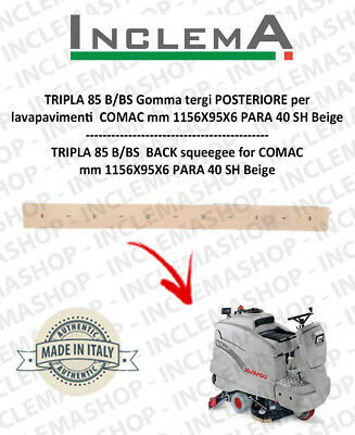 TRIPLA 85 B/BS Back Squeegee Rubber for Scrubber Dryer COMAC