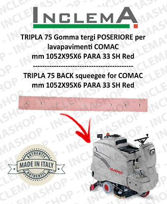 TRIPLA 75 BS II SERIE Back Squeegee Rubber for Scrubber Dryer COMAC