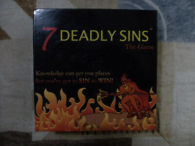 7 Deadly Sins The Game - Naughty Trivia & Sinful Dares - New in open box
