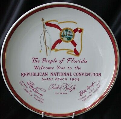 Republican National Convention Plate Miami Beach 1968
