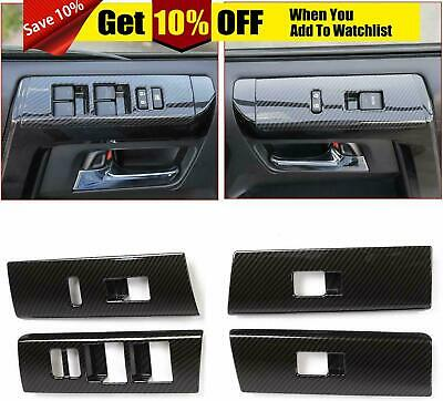 Carbon Fiber Window Lift Switch Decoration Trim for Toyota 4runner SUV 2010-2019