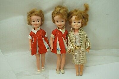 VINTAGE PENNY BRITE DOLL LOT OF 3 DELUXE READING ORIGINAL DRESS SHOES 8in d
