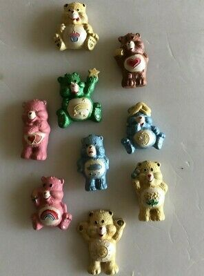 VINTAGE CARE BEAR LOT OF 9 AMERICAN GREETINGS REFRIGERATOR MAGNETS 1980's RARE
