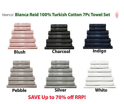 Bianca Reid 550GSM 100% Turkish Cotton Towel Sets | 7pc | Super Soft RRP $119.95