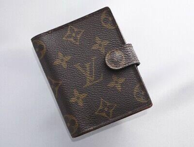 H7673M Authentic Louis Vuitton Monogram Agenda Notebook Cover Mini *Good