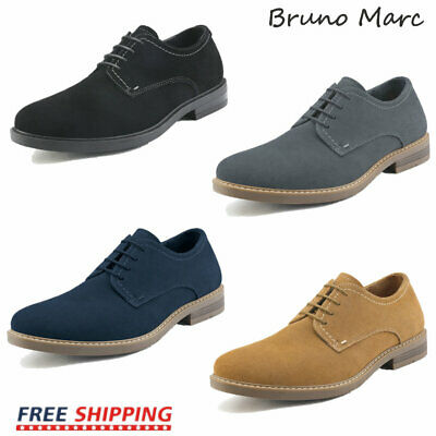 Bruno Marc Mens Casual Shoes Suede Leather Lace Up Wing Tip Oxford Shoes 6.5-13