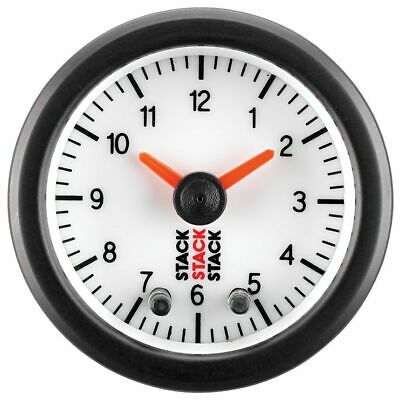 Stack 12 Hour Analogue White Dial Face Clock