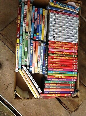 Carry On Films/Norman Wisdom/various comedy DVDs job lot X 63