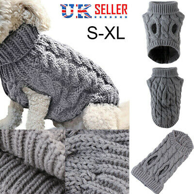 NEW Fashion Knitted Puppy Dog Jumper Sweater Pet Clothes For Small Dogs Coat UK