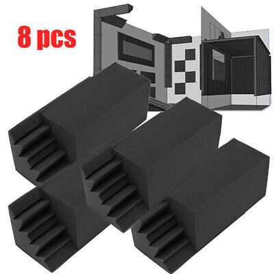 8 Pcs Studio Acoustic Foam Corners Bass Trap Sound Absorption Treatment Proofing
