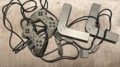 Two Official Sony Playstation One Controllers And Multi-Taps:ps/1: