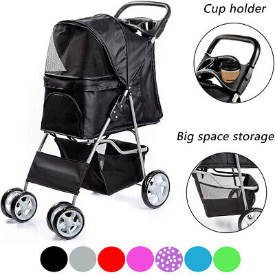 Pet Stroller Dog Puppy Cat Pram Travel Buggy Pushchair for Animals Jogger