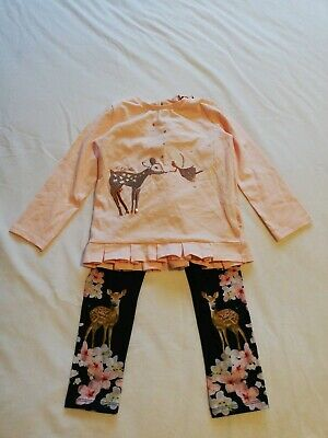 Girls Ted Baker Too And Leggings Outfit Age 4-5