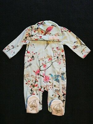 Girls Ted Baker Sleepsuit/Baby Grow And Hat Set 0-3 Months