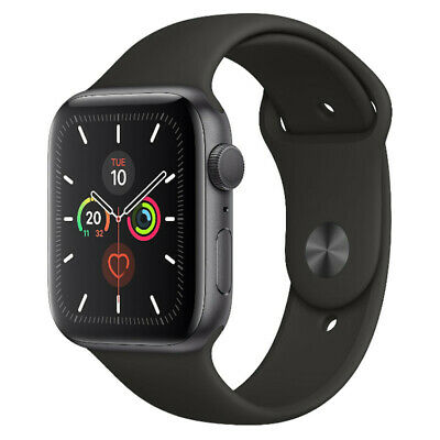 Apple Watch Series 5 - 40mm/44mm - GPS/4G - All Case Colours - Black Sport Band