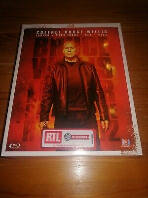 Coffret Blu-ray -Bruce Willis : Looper + Sans issue + RED + RED 2 neuf