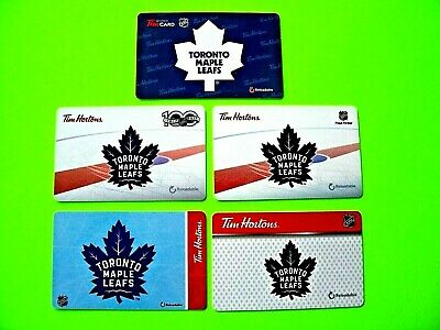 Tim Hortons TORONTO MAPLE LEAFS LOT ~ 2019 2018 2017 2016 2015 ~ Gift Card L@@K