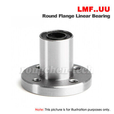 LMK 6//8//10//12//20//40LUU Long Square Flange Linear Motion Ball Bearing Slide Bush