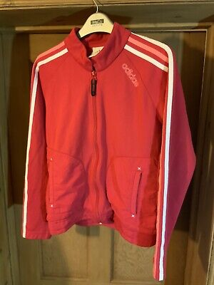 Vintage Adidas Pink Tracksuit Top Size 32/34 Girls / Womens