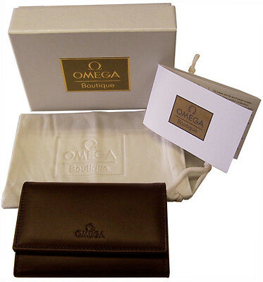 Omega Fine Leather Collection Key Holder Gift Set