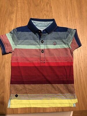 NWOT Ted Baker baby boys Stripe Polo shirt age 12-18 months
