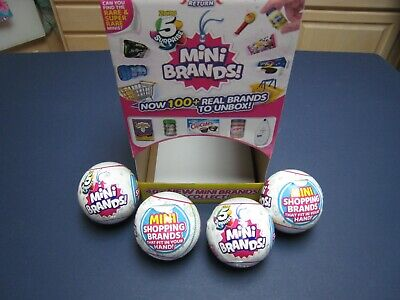 Zuru 5 SURPRISE! Mini Brands - Lot of 4 Balls Plus Counter Display All Brand New
