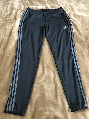 ADIDAS Youth Boys/Girls Sz Large 16/18 Athletic PANTS Gray ClimaCool Zipper