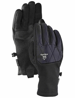 Head Womens Black Hybrid Sensatec Touchscreen Running Gloves Size Small NEW