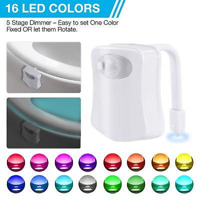 Toilet Bathroom LED Night Light Motion Activated Seat Sensor Color Changing CY2