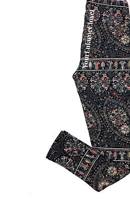 Lularoe LEGGINGS Floral Paisley Teal Coral Cream One Size Os NWT NEW