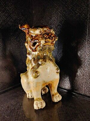 Edo Period Foo Dog 19th or 18th Century Object ANTIQUE ORIBE PORCELAIN