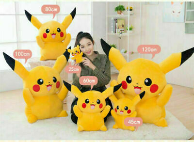Giant Large Pokemon Pikachu Plush Soft Toy Stuffed Doll Kids Birthday XMAS/Gift+