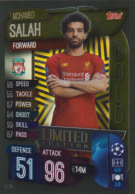 Topps Champions League 19 20 2019 2020 LE14 Mohamed Salah Limited Edition Card