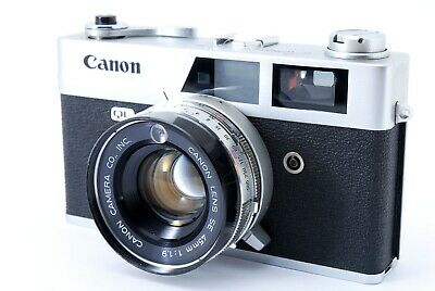 """As Is"" Canon Canonet QL19 Rangefinder Film Camera 45mm f1.9 Lens Japan #A1798"