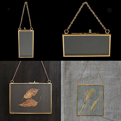 2 Piece Metal Chain Double Sided Hanging Photo Picture Frame Wall Display Frames