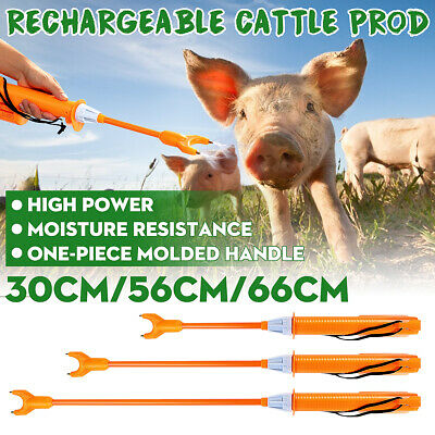 55cm Rechargeable Electric Livestock Cattle Pig Prod Handle Animal Stock Prodder