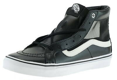 VANS SK8 HI SLIM Leather Perforate Hearts Black True White