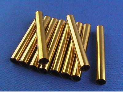 Woodturning Pen Kit Spares - Slimline Brass Tubes x10