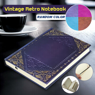 Vintage Classic Retro Leather Blank Journal Travel Notepad Notebook Diary Book