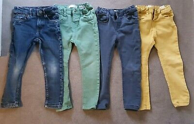 Boys Skinny Fit Jeans Bundle Age 3-4 | Zara& NEXT |Denim, Navy, Green & Mustard