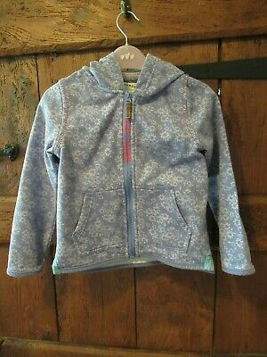 Fat Face Girls Blue Floral Hooded Jacket Age 6-7 Years