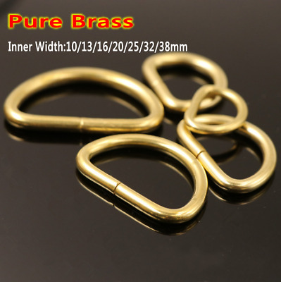 Leather Craft DIY Pure Brass Opening Luggage Fitting D Semicircle Buckle Tool