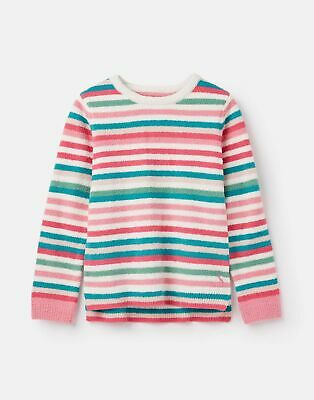 Joules Girls Seaham Chenille Jumper 3 12 Years in MULTI STRIPE Size 7yrin8yr