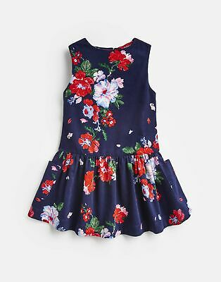 Joules Girls Lauren Luxe Pincord Pinafore Dress  - NAVY DEVITO FLORAL
