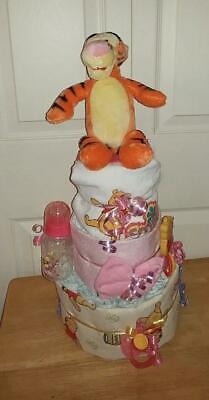 Baby Shower 3 Tier Girl's Winnie The Pooh Diaper Cake, Tigger