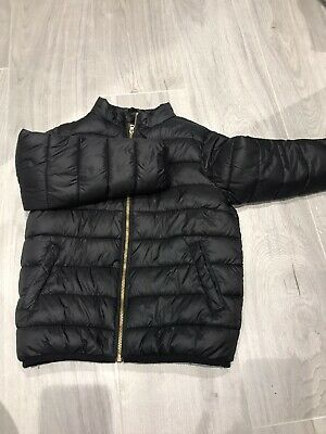 Girls Black Padded Jacket Age 7 Years