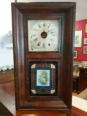 New England American OG ogee Antique CONNECTICUT CONN new haven WALL SHELF CLOCK
