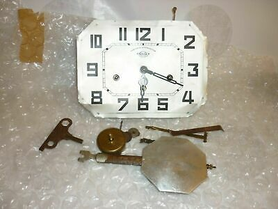 """Art Deco Chimes Westminster Wall  Clock """"Girod"""" 8 Rods 8 Hammers For Parts"""