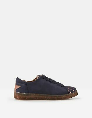 Joules Girls Solena Cupsole Trainers in NAVY Size Childrens 1