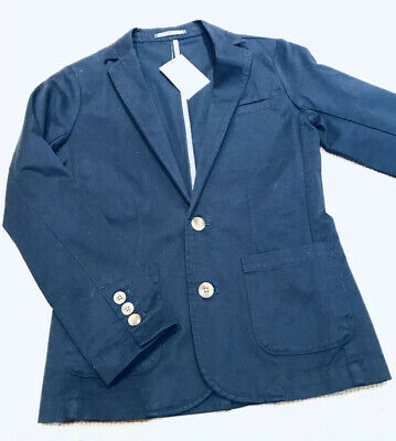 NEXT Boys Smart Jacket , NEW, Age 9-10 , Navy Blue Cotton, Special Occasion